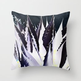 Black & White Agave Throw Pillow