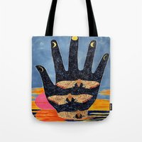 moth Tote Bags featuring Moth by Dawn Patel Art