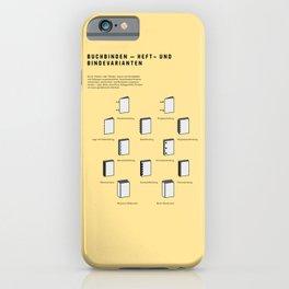 Buchbinden – Heft- und Bindevarianten iPhone Case