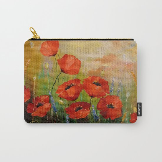 Poppies in the moonlight Carry-All Pouch