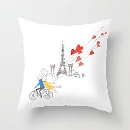 Paris in Love Throw Pillow