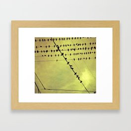 bird is the word Framed Art Print