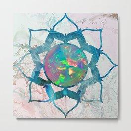 Psychedelic Crystal Lotus 2 Metal Print
