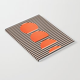 Abstraction_SUNSET_LINE_ART_Minimalism_001 Notebook