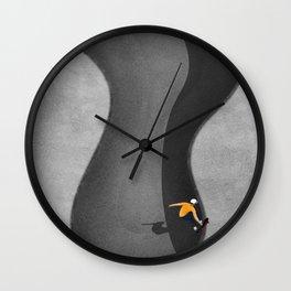 Skatepark   Aerial Illustration Wall Clock