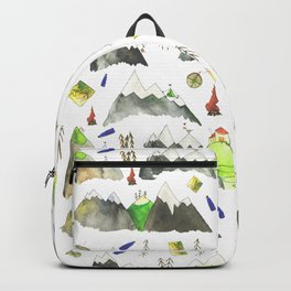 Watercolor Hills for Hikers and Nature lovers Backpack