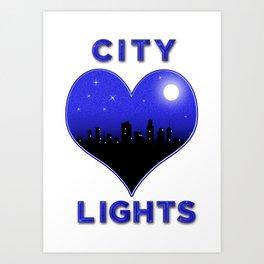 I Love City Lights Art Print