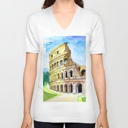 Summer in Rome - Colosseum  Unisex V-Neck