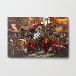 In the Market Place Metal Print