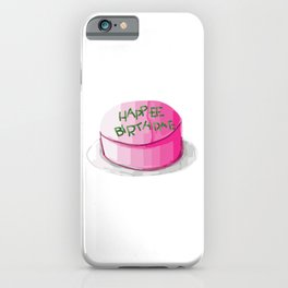 Magic cute Iconic happee birthdae pink and green frosting birthday cake iPhone Case