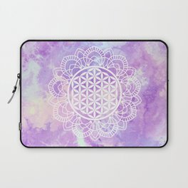 Flower Of Life (Soft Lavenders) Laptop Sleeve
