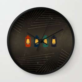 Porch Lanterns Wall Clock