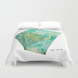 BIRTHSTONES - MAY / EMERALD Duvet Cover