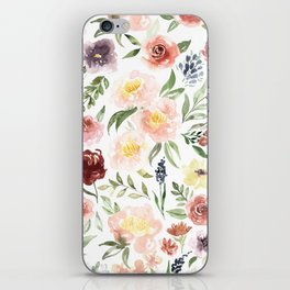 Waterolor florals iPhone Skin