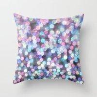 tiffany Throw Pillows featuring TIFFANY SNOW by Monika Strigel