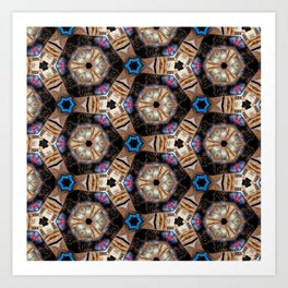 Till All Are One II - Hexagonal Abstract Repeating Pattern Art Print