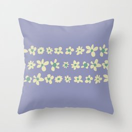 Daisy Chain in Dusty Violet Throw Pillow