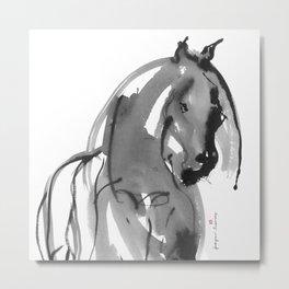 Horse (Juno ver. black) Metal Print