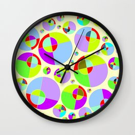 Bubble yellow & purple 10 Wall Clock
