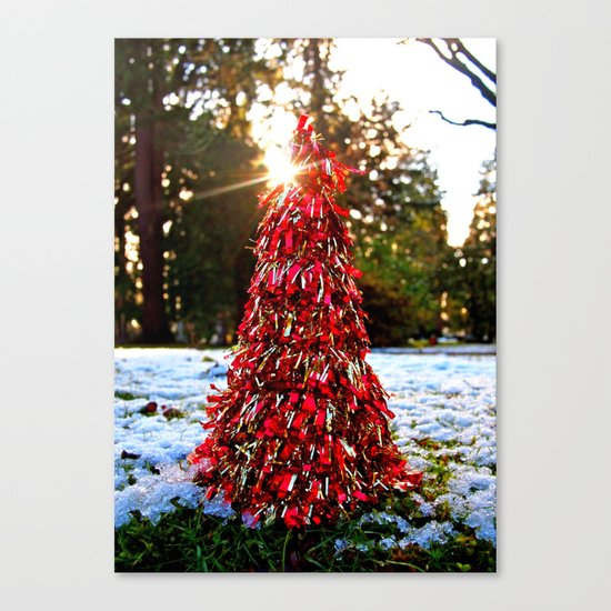 Yuletide tree Canvas Print