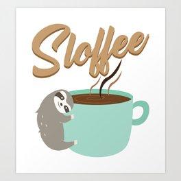 Sloffee | Coffee Sloth Art Print