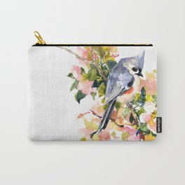 Bird and Spring Carry-All Pouch