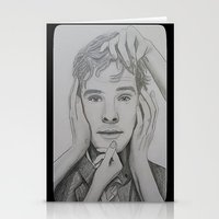 cumberbatch Stationery Cards featuring Benedict Cumberbatch by The Expression Studio