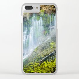 Underground Springs Waterfall Clear iPhone Case