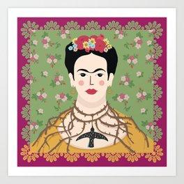Frida Viva Cushion Art Print