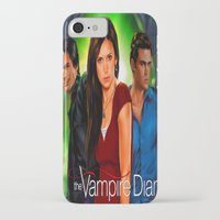 vampire diaries iPhone & iPod Cases featuring The Vampire Diaries by Don Kuing