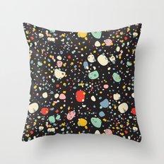 Modern Scandinavian Multi Colour Color Pebbles Black Throw Pillow