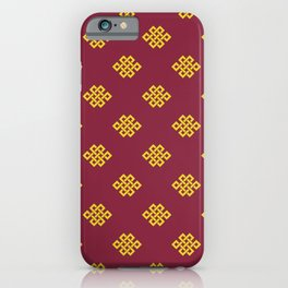 Eternity knot, endless knot pattern iPhone Case