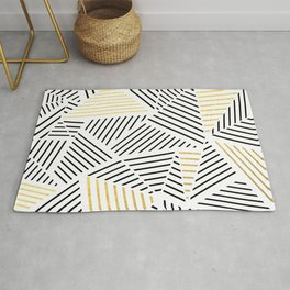 A Linear White Gold New Rug