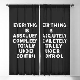 Completely Under Control Funny Quote Blackout Curtain