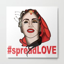#spreadLOVE Metal Print