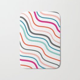 Beads and ribbons Bath Mat