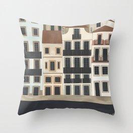 Ribeira, Porto Throw Pillow