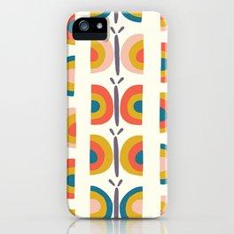 Retro Butterflies iPhone Case