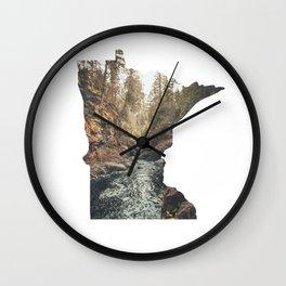 Cascade River State Park Minnesota Outline Wall Clock