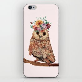Owl with Flowers iPhone Skin
