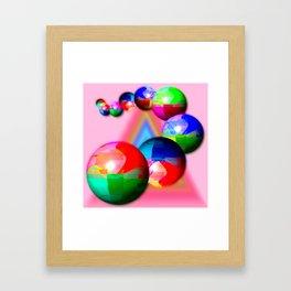 Bowling bowls Framed Art Print