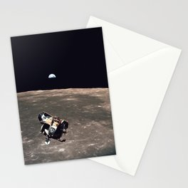Apollo 11 Lunar Module Moon & Earth Stationery Cards
