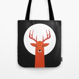 Deer and Moon Tote Bag
