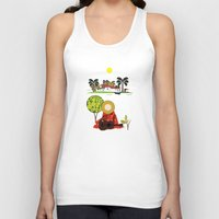 mexican Tank Tops featuring Mexican Villa by Design4u Studio