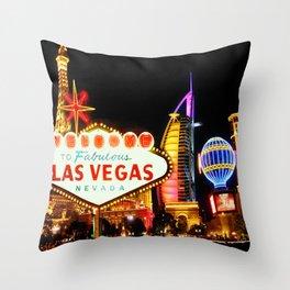 Living Las Vegas 2 Throw Pillow