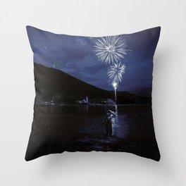 Constelaciónes de una estrella spiegel Throw Pillow