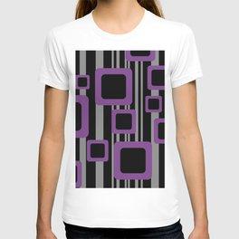 Violet Black Pattern Rectangles #society6  T-shirt