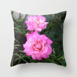Renegade Roses III Throw Pillow
