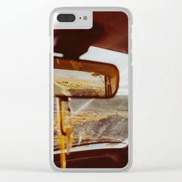 Driving in Rural Scandinavia - Closeup of Wild Landscape in Car Clear iPhone Case