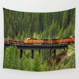 BNSF Going Over Goat Lick Creek Wall Tapestry